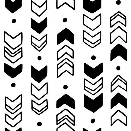 native american baby: Hand drawn geometric tribal pattern