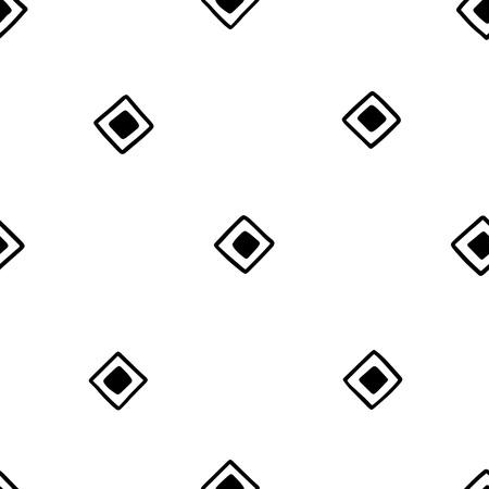 native american baby: Seamless hand drawn geometric tribal pattern with random squares. Vector navajo design.