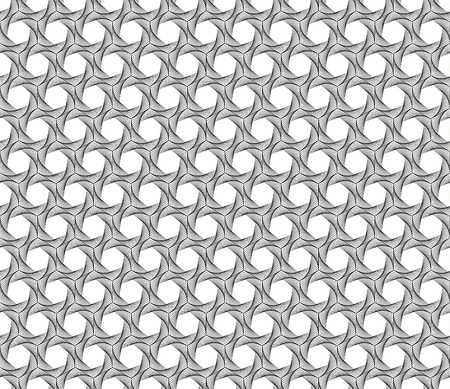 Spiral line geometric seamless pattern. Modern vector tile background with hexagons. Illustration