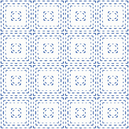 Indigo blue hand drawn vector seamless pattern. Porcelain - style surface design for fabric, wrapping paper or backdrop.