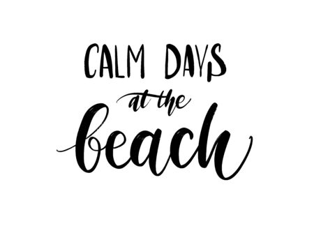 Vector hand drawn summer inscription beach relaxation and vacation. Youth culture.