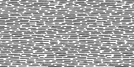 Hand-drawn black and white seamless texture with dashed strokes. 矢量图像