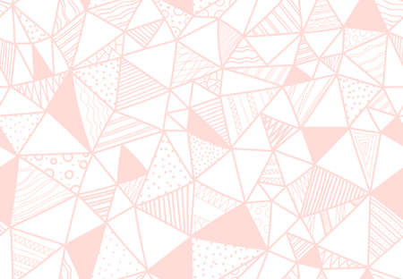 Hand drawn seamless doodle vector pattern with triangles and textures. Fabric illustration.