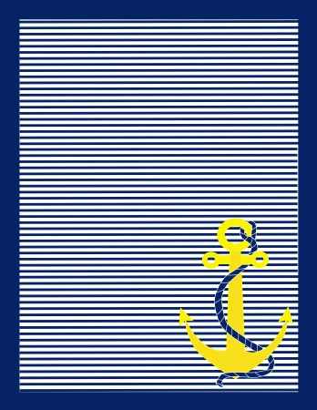 navy blue background: A background of blue and white stripes with a gold anchor in the lower right corner