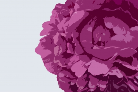 A photo of a pink peony artistically converted to appear as though it were made from cut out pieces of colored paper