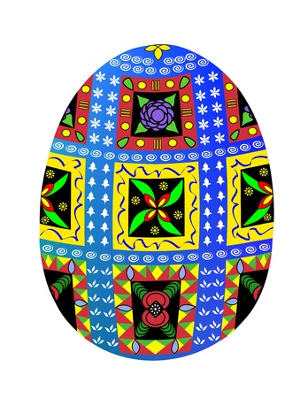A highly decorated Easter egg in the Ukrainian tradition