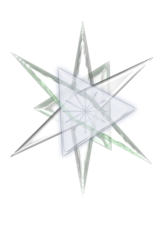 An illustration of a star made of glass