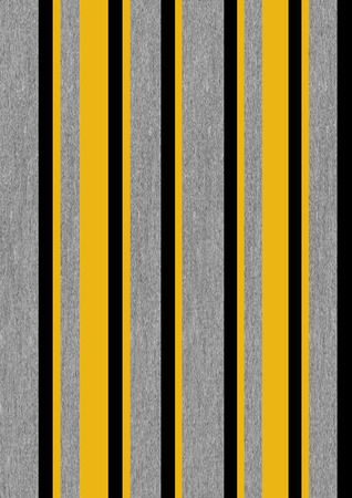An illustration of stripes that reminds one of grey flannel with mustard yellow and black accents Stock Photo