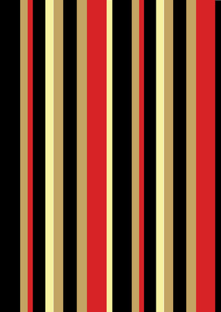 An illustration of stripes in the colors of a familiar raincoat lining in reds, blacks and tans