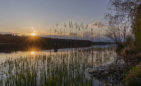 mood moody: Sunset across lake