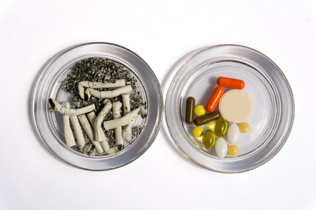 tumors: Cigarette butts and pills