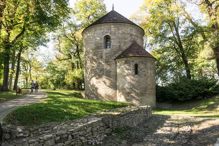 romanesque: Romanesque rotunda from circa 1180, St. Nicholas Church. Cieszyn, Poland, Europe.
