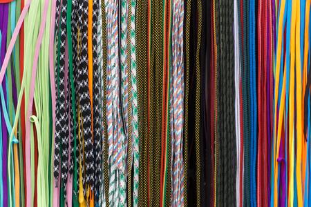 shoelaces: Multicolored shoelaces, Colorful shoelace background