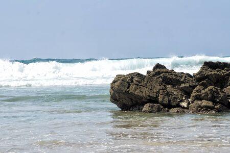Portuguese coast. Zambujeira do Mar beach is a part of the Vicentine Coast and  Alentejo Natural Park in Portugal.
