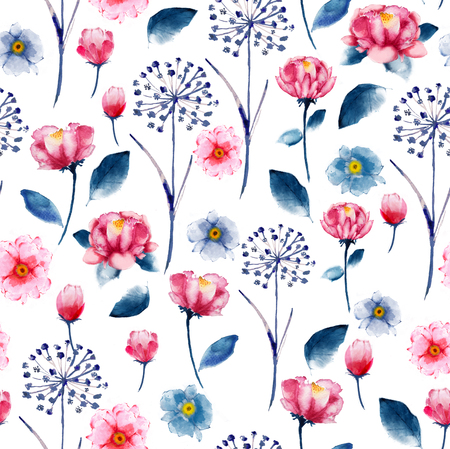 Seamless bright watercolor floral pattern delicate flower wallpaper seamless bright watercolor floral pattern delicate flower wallpaper wild flowers pinktansy mightylinksfo