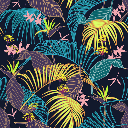 Colorful floral pattern.