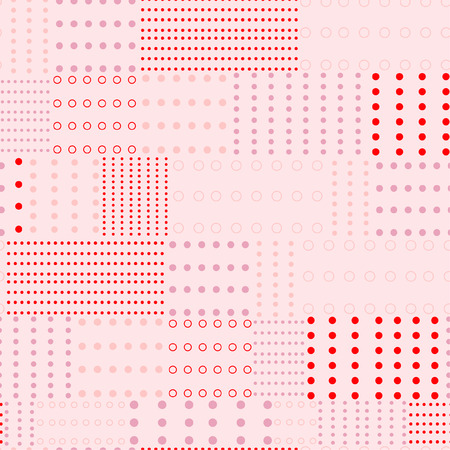 Beautiful sweet monotone pink rertro polka dots mix pattern prints seamless vector for fashion fabric and all prints