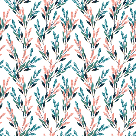 Beautiful Gemetric meadow flowers seamless pattern in small scale modern style design for fashion,fabric,prints,web,wallpaper ,and all prints on white background color