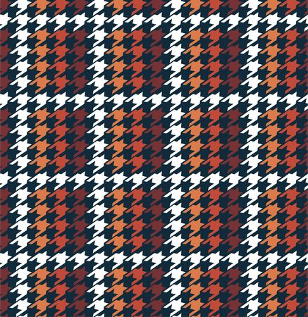 Stylish winter grid houndstooth in checkered form seamless pattern in vector,Design for fashion,fabric,web,wallpaper,warpping and all graphic type on dark navy blue background color.