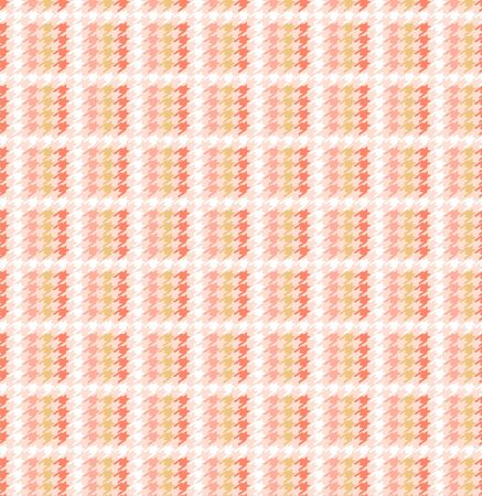 Beautiful sweet pastel grid houndstooth in checkered form seamless pattern in vector,Design for fashion,fabric,web,wallpaper,warpping and all graphic type on light pink background color.