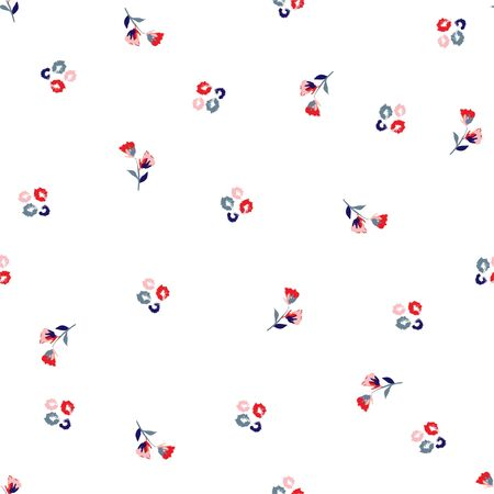 Beautiful Flowery colorful pattern in small-scale flowers. Liberty style Floral seamless background design for fashion