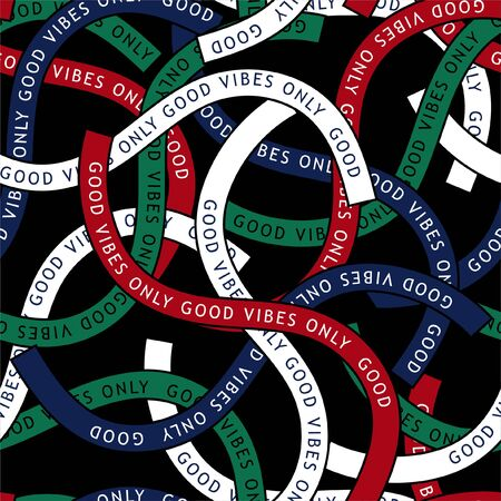 Colorful trendy ribbon with typo wording
