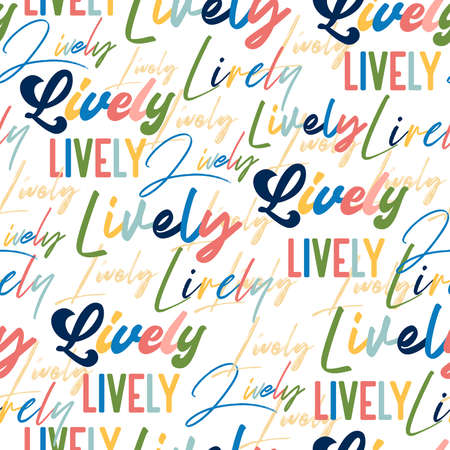 Colorful hand draw typography