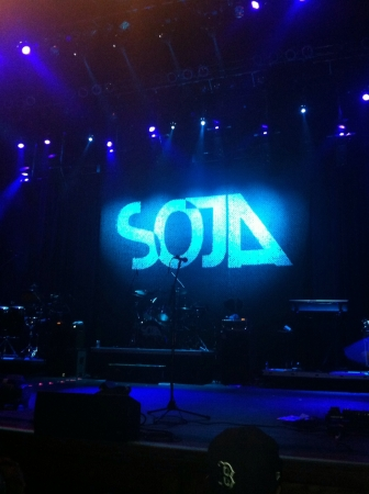 soja: SOJA concert in AC before the band started Stock Photo