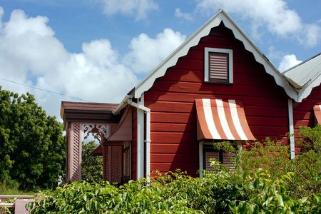 chattel: Wood-House in Barbados