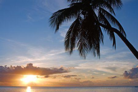 barbados: tropical sundown photgraphed in Holetown, Barbados Stock Photo
