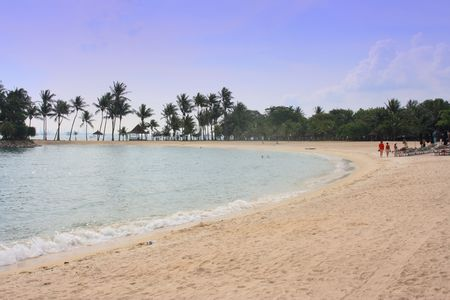 Sentosa Beach, Singapore;