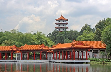 Chinese Garden in Singapore; photographed in October 2008