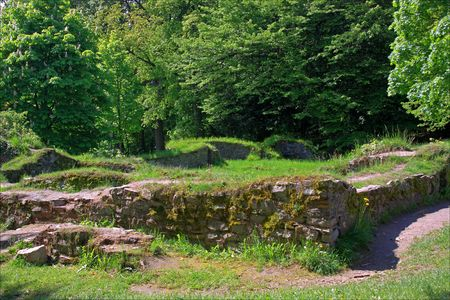 germanic: Saalburg Roman Fort, Bad Homburg, Germany; the ancient frontier between the Roman Empire and the Germanic tribal territories Stock Photo
