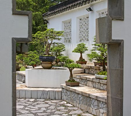 Chinese Garden in Singapore ; photographed in October 2008 Stock Photo