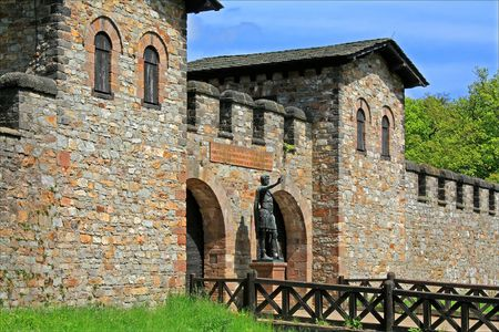 Saalburg Roman Fort, Bad Homburg, Germany;