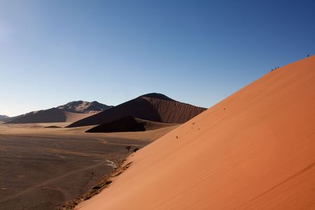 sossusvlei: red dunes of sossusvlei;Landscape in Namibia;photographed in October 2009