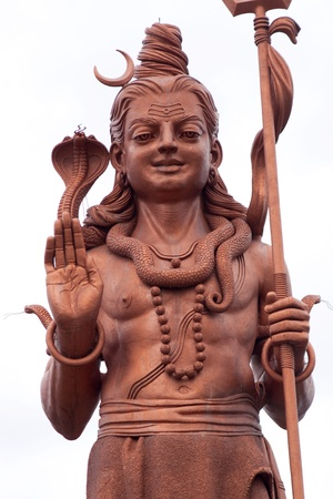 hindu god shiva: Statue of Hindu God Shiva in the south east of Mauritius, photographed in November 2010 Stock Photo