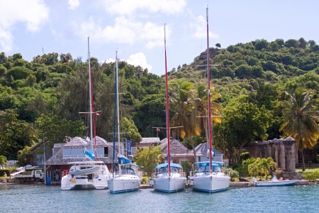 English Harbour in Antigua, photographed in November 2012