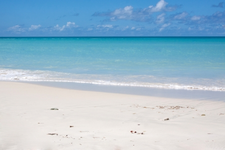 Beautiful Dickenson Bay in Antigua, photographed in November 2012 Stock Photo