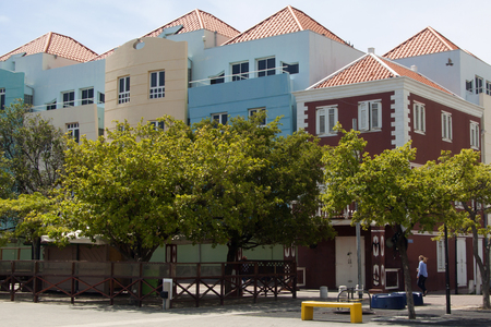 Old dutch house, Willemstad in Curacao Stock Photo