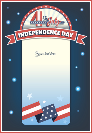 template for greeting text to celebrate the 4th of July, Independence Day America