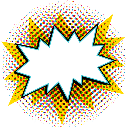 pop art styled speech bubble template for your design comics
