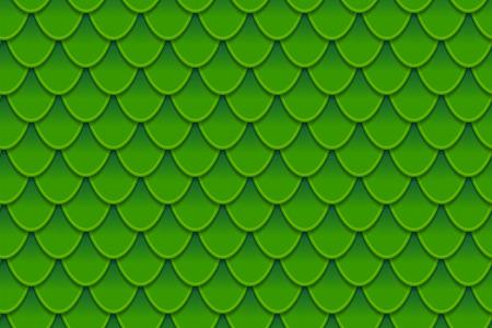 Seamless pattern of colorful green fish scales. Fish scales, dragon skin, Japanese carp, dinosaur skin, pimples, reptile, snake skin, shingles. Vector illustration