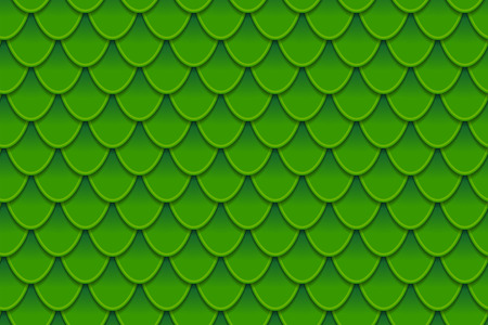 Seamless pattern of colorful green fish scales. Fish scales, dragon skin, Japanese carp, dinosaur skin, pimples, reptile, snake skin, shingles. Vector illustration
