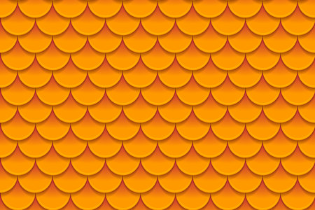fabric textures: Seamless pattern of colorful orange fish scales. Fish scales, dragon skin, Japanese carp, dinosaur skin, pimples, reptile, snake skin, shingles. Vector illustration