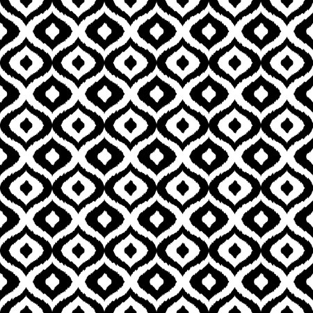 animalistic: Black and white tribal vector seamless pattern. Hand drawn abstract background. Classic textile design, animalistic motif. Vector illustration Illustration