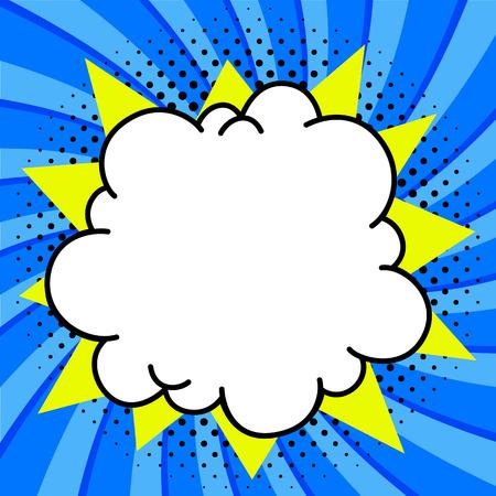 팝 아트 스타일 연설 거품 템플릿 디자인을위한. 분명 빈 붐 만화 연설 거품 팝 아트 스타일입니다. 색깔 된 풍선입니다. 메시지 구름 화려한 배경 스티 일러스트