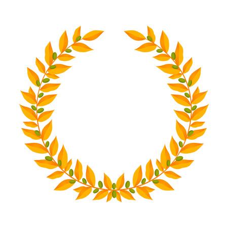 Gold laurel wreath icon.