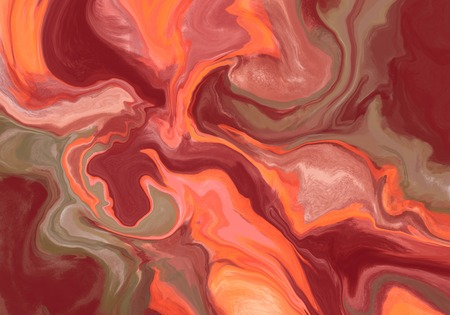 Super duper gorgeous abstract painting. Liquid paint technique background. Marble effect painting. Background for wallpapers, posters, cards, invitations, websites. Mixed red, pink, brown