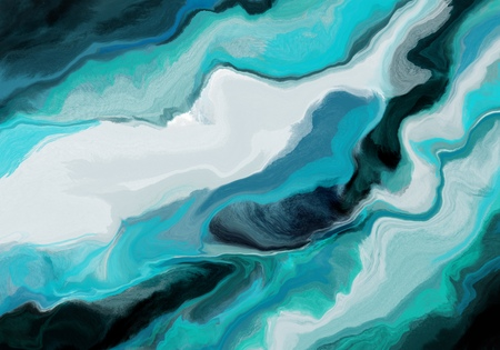 Super duper gorgeous abstract painting. Liquid paint technique background. Marble effect painting. Background for wallpapers, posters, cards, invitations, websites. Mixed blue, turquoise and black